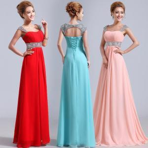 Elegant Cap Sleeve Plus Size Formal Dress Sequin Evening Dress Long Homecoming Prom Gown SD062