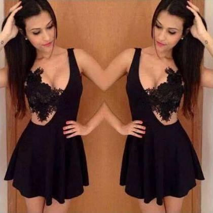 Sexy Crochet Lace Party Dress Women..