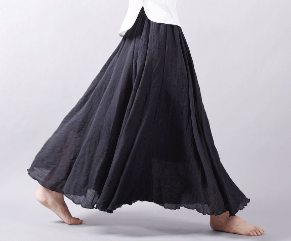 Cotton Linen Long Skirt Women A Line Maxi Skirt 12 Colors SK004 on ...