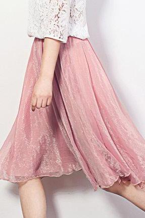 Women Summer Short Midi Chiffon Skirt Q191