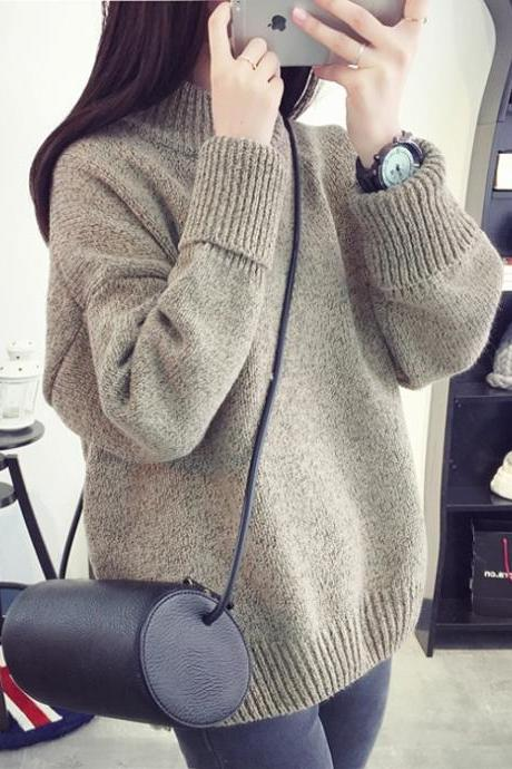 Womens Knitted Pullover Loose Comfortable Winter Sweater