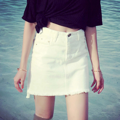 White Women Short Skirt SK0061121