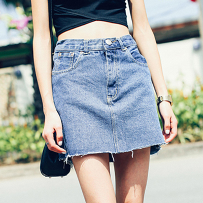 High Waist Jean Mini Denim Skirt SK0062051